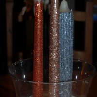 Glittered Candles Tutorial
