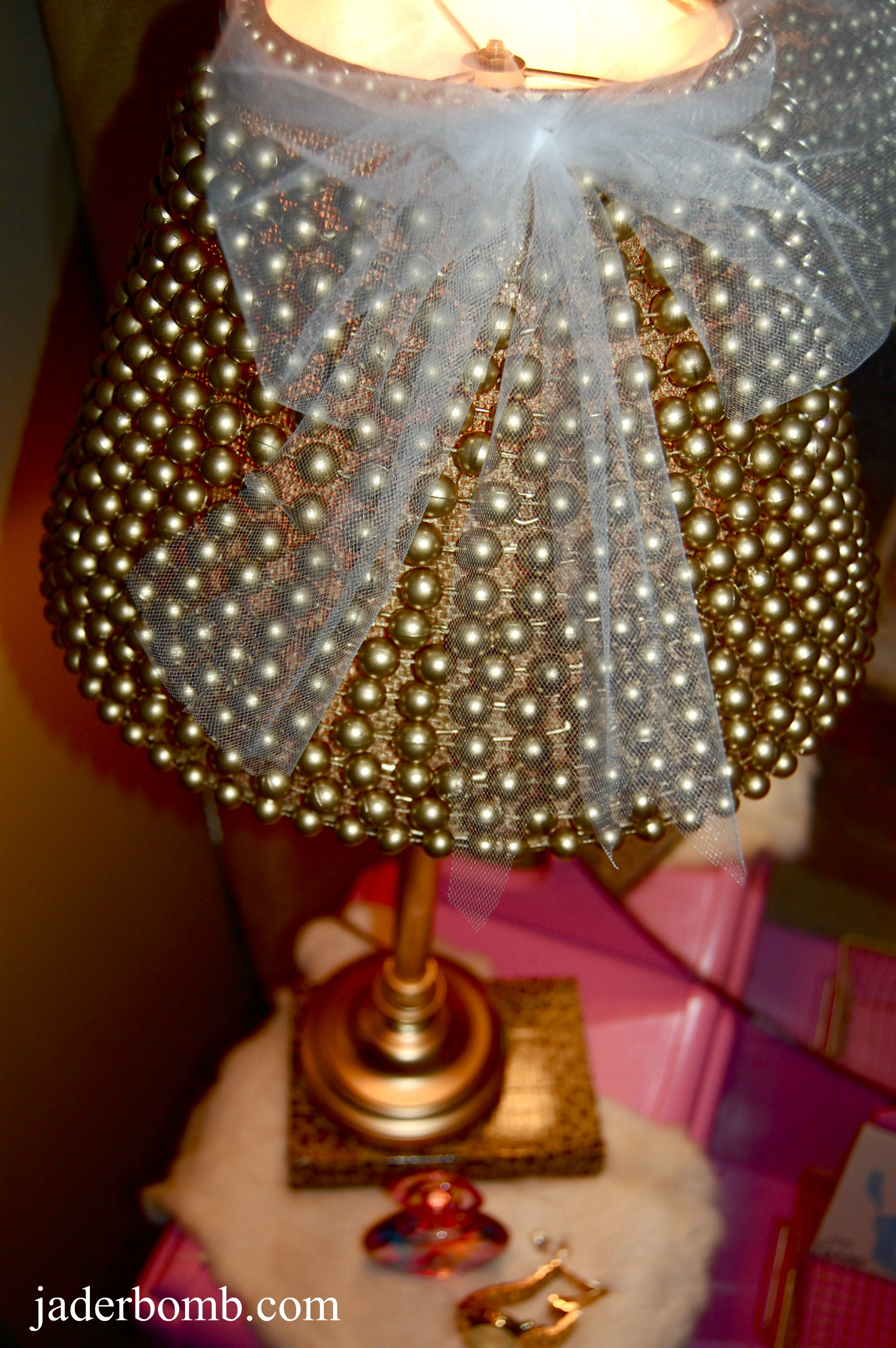 I Wanted To Create A Simple Yet Elegant Lamp Shade Put Little Tulle Bow On The Top And Voila Have Tons S Of Diffe