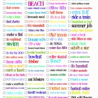 2012 summer todo list
