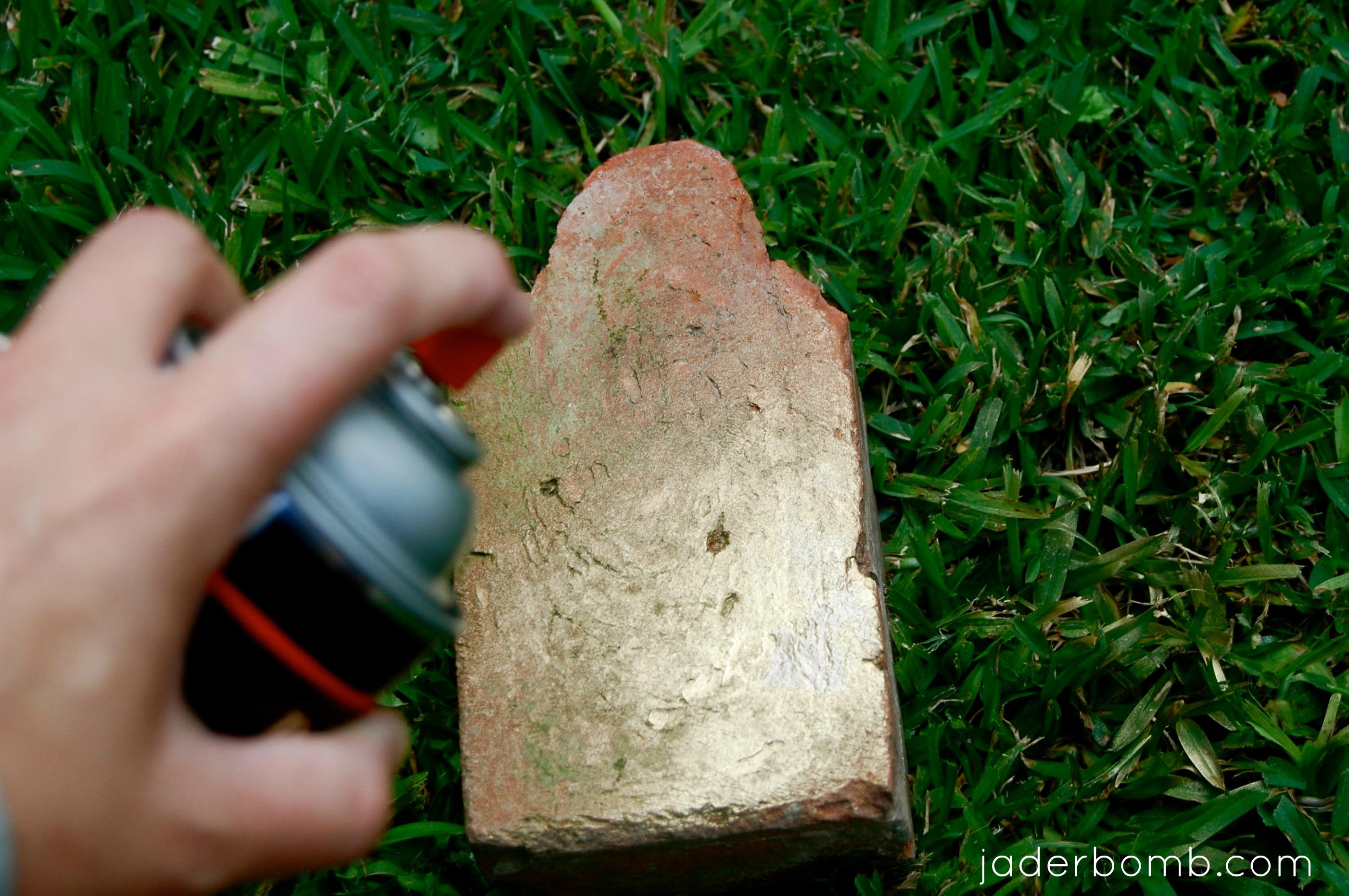 Gold Brick Bookend Tutorial JADERBOMB