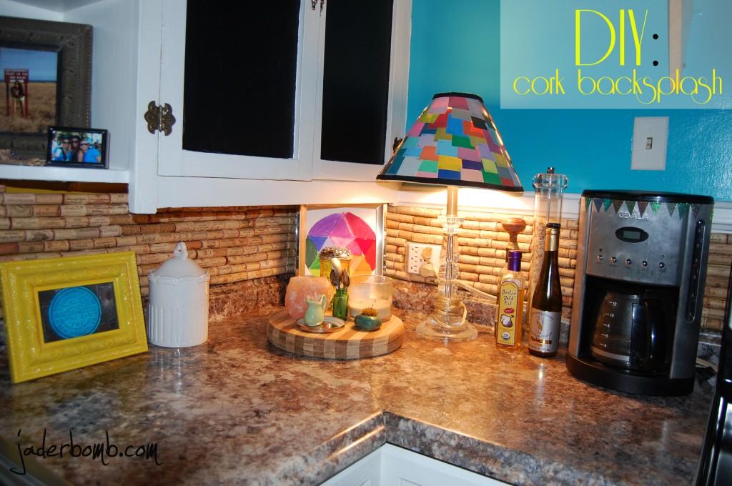 how to make a cork backsplash for your kitchen tutorial