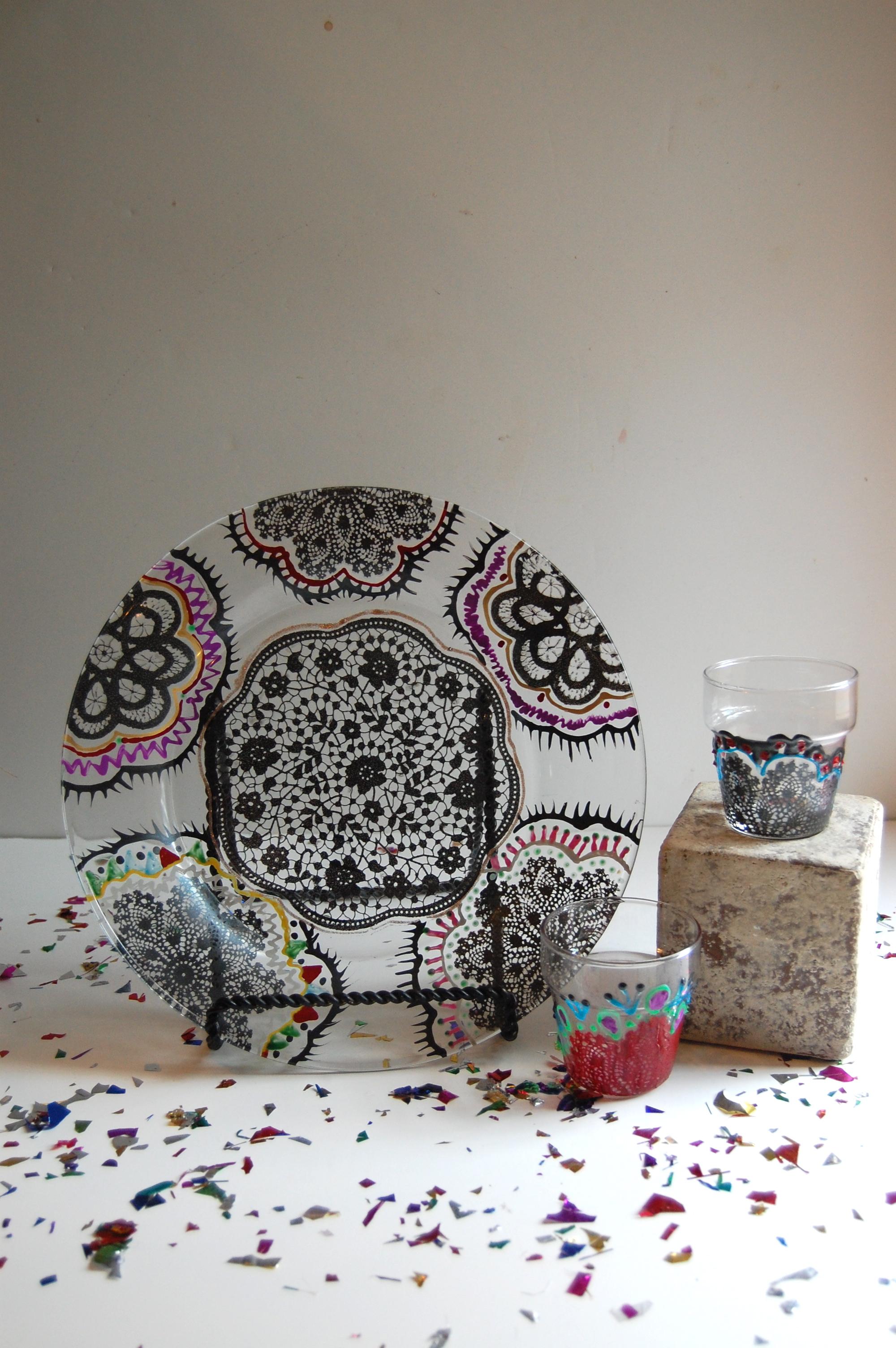 Tutorial mexican folk art with martha stewart crafts for Martha stewart glass paint instructions
