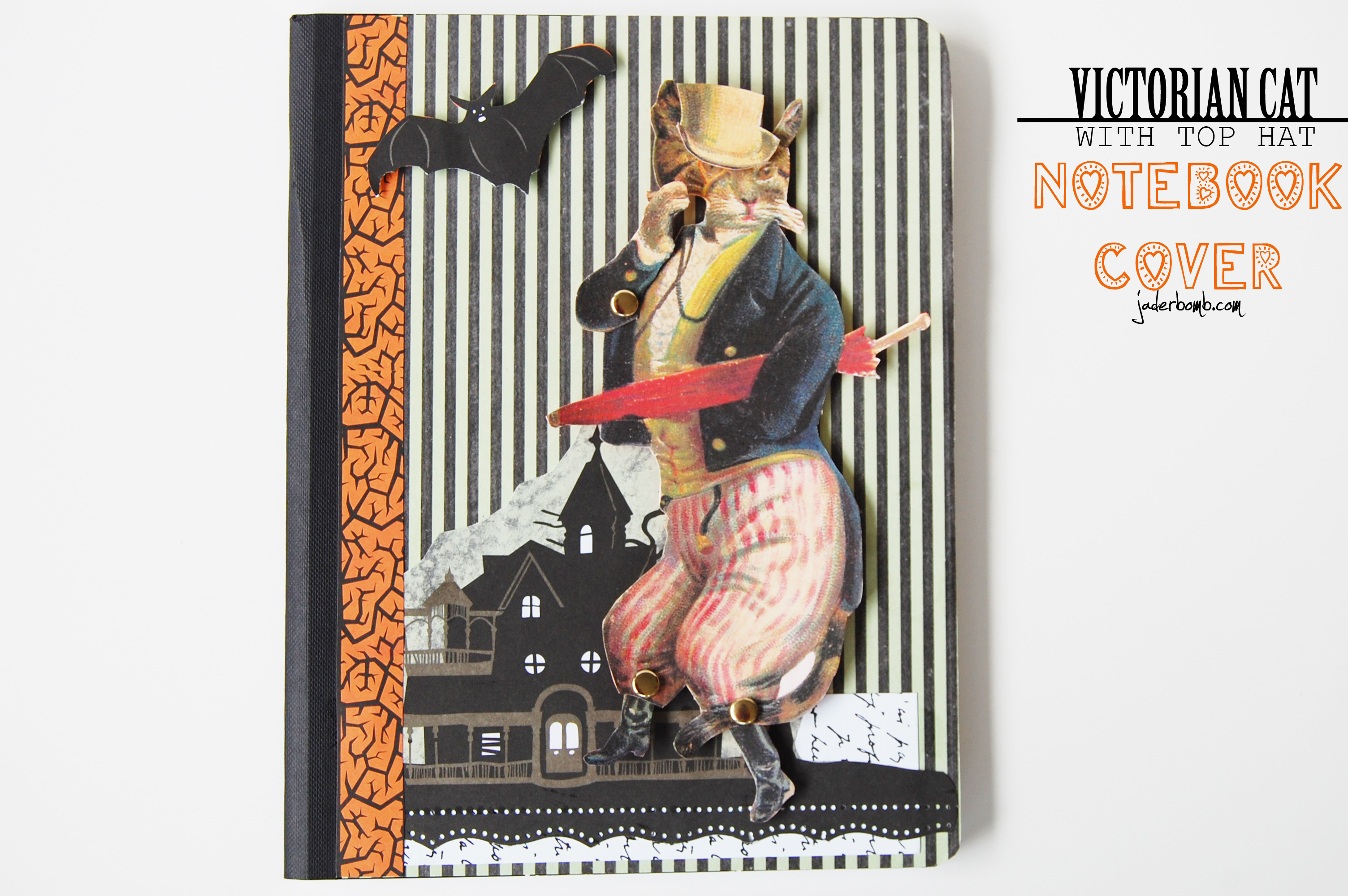 Victorian Cat Notebook Cover