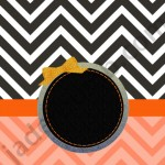 orange and black chevron cover