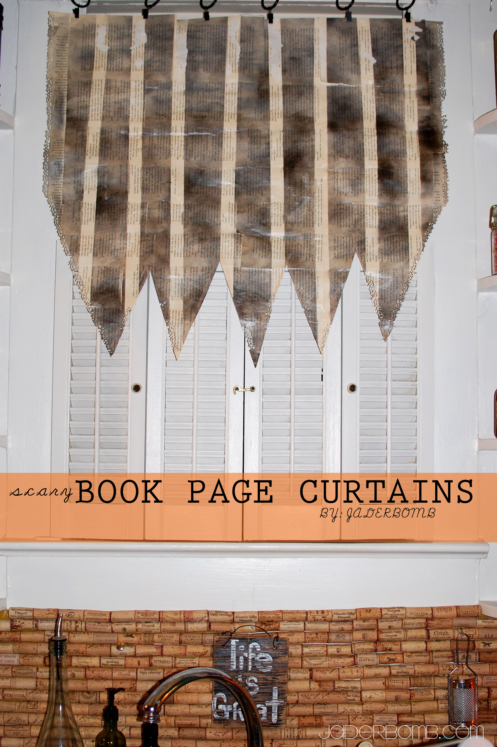 Book Page Curtains