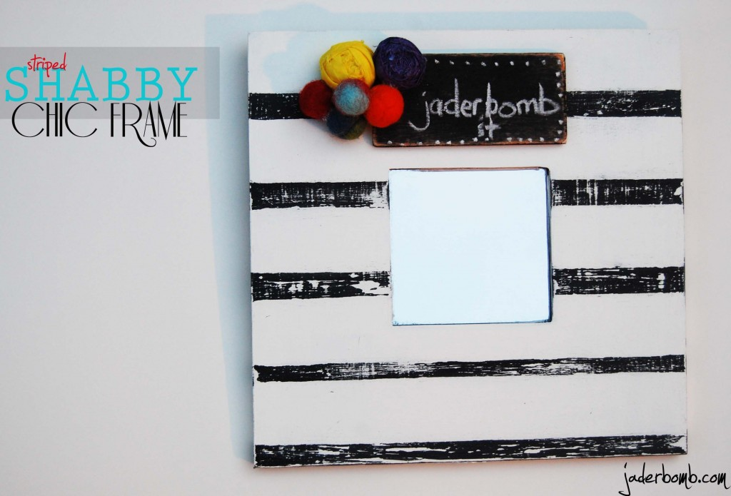 STRIPED SHABBY CHIC MIRROR