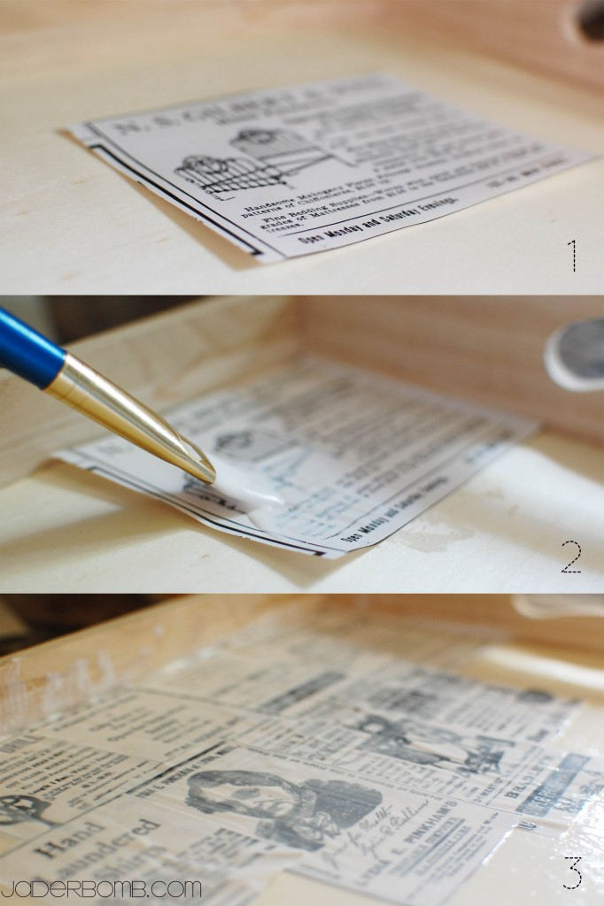 How To Decoupage a Wooden Tray
