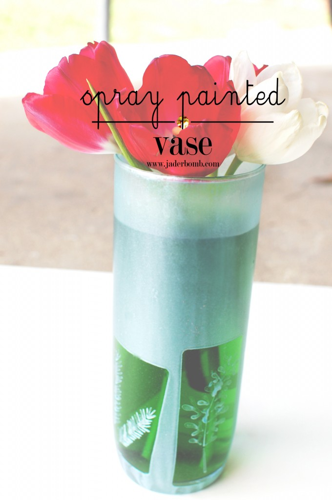 spray paint glass