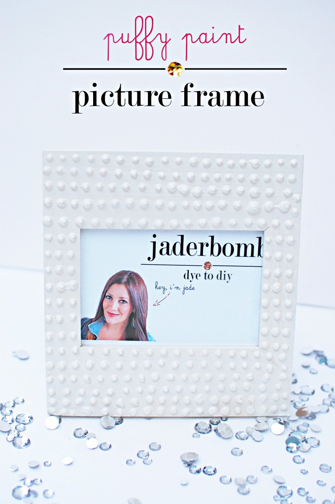 Puffy Paint Picture Frame