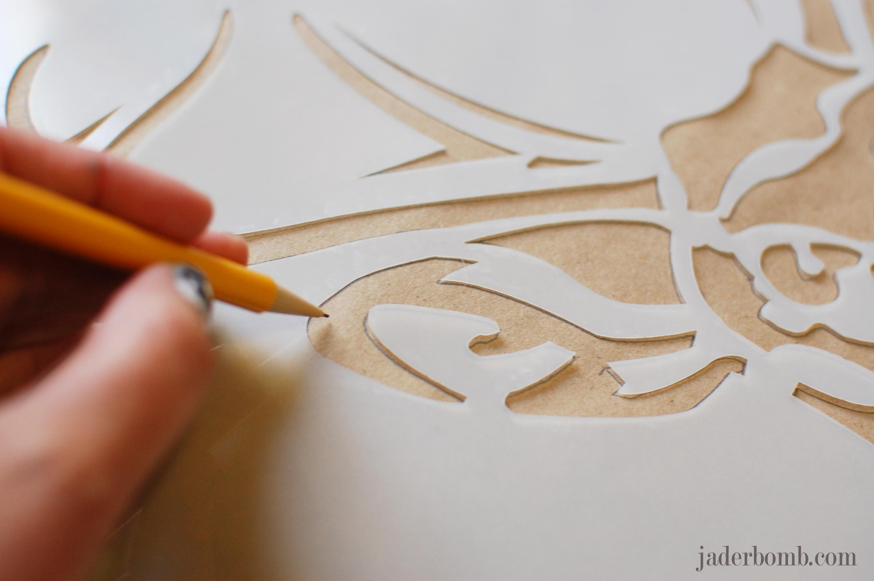 Yarn BOMB a stencil- Stencil 1 - JADERBOMB