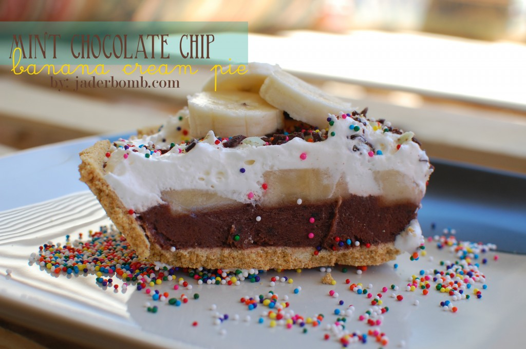 Mint Chocolate Chip Banana Cream Pie