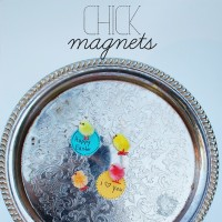 how to make chick magnets