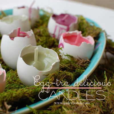 how to make egg candles