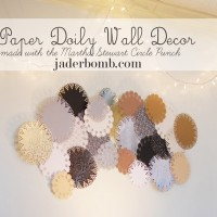 paper doily wall decor