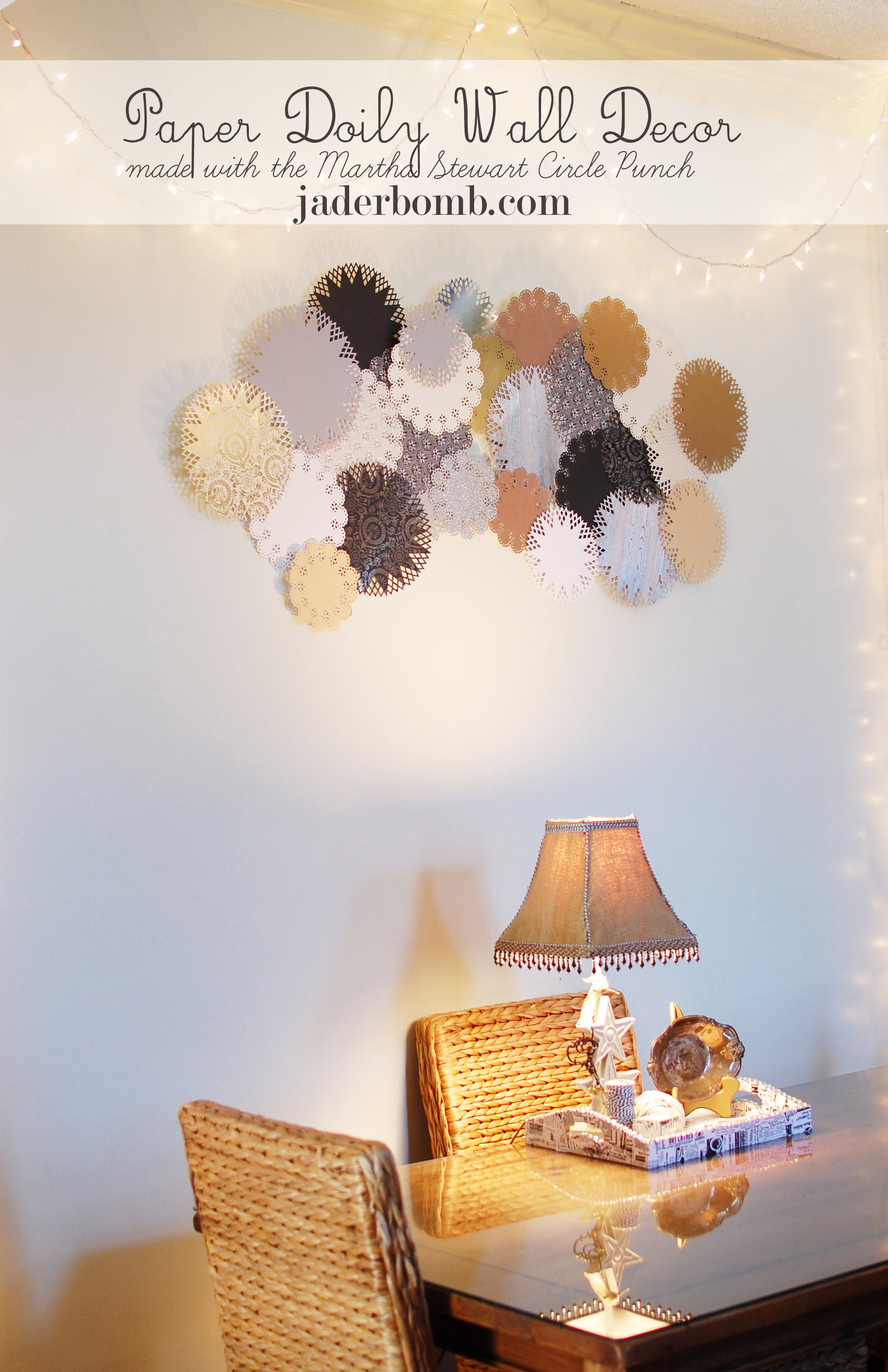 JADERBOMB - Paper Doily Wall Decor using the Martha Stewart Circle ...
