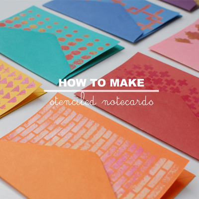 How to make stenciled notecards