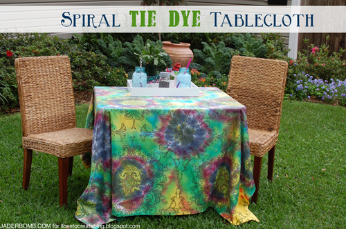 spiral tie dye tablecloth