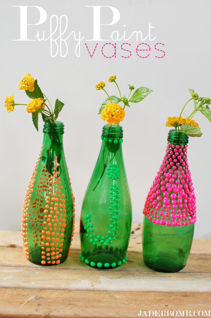 Puffy Paint Vases