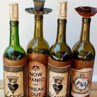 Vintage Cork Candle Bottles