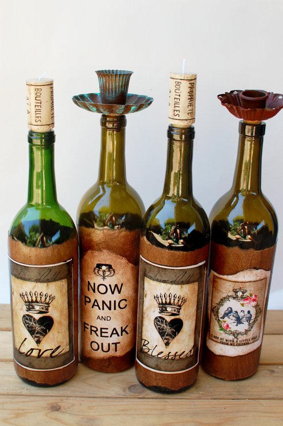 Vintage Cork Candle Bottles