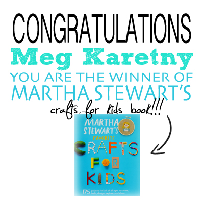 kids book winner martha stewart