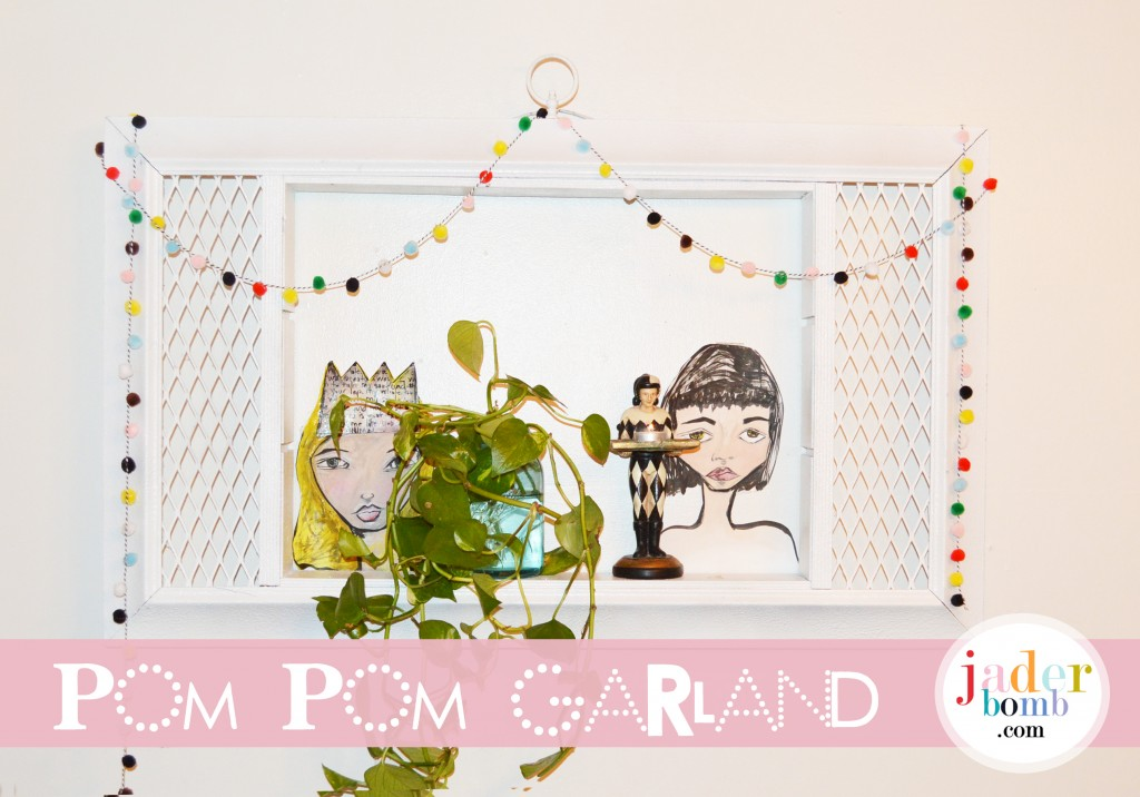 Garland made with Pom Poms