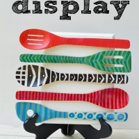 decorative wooden spoon display