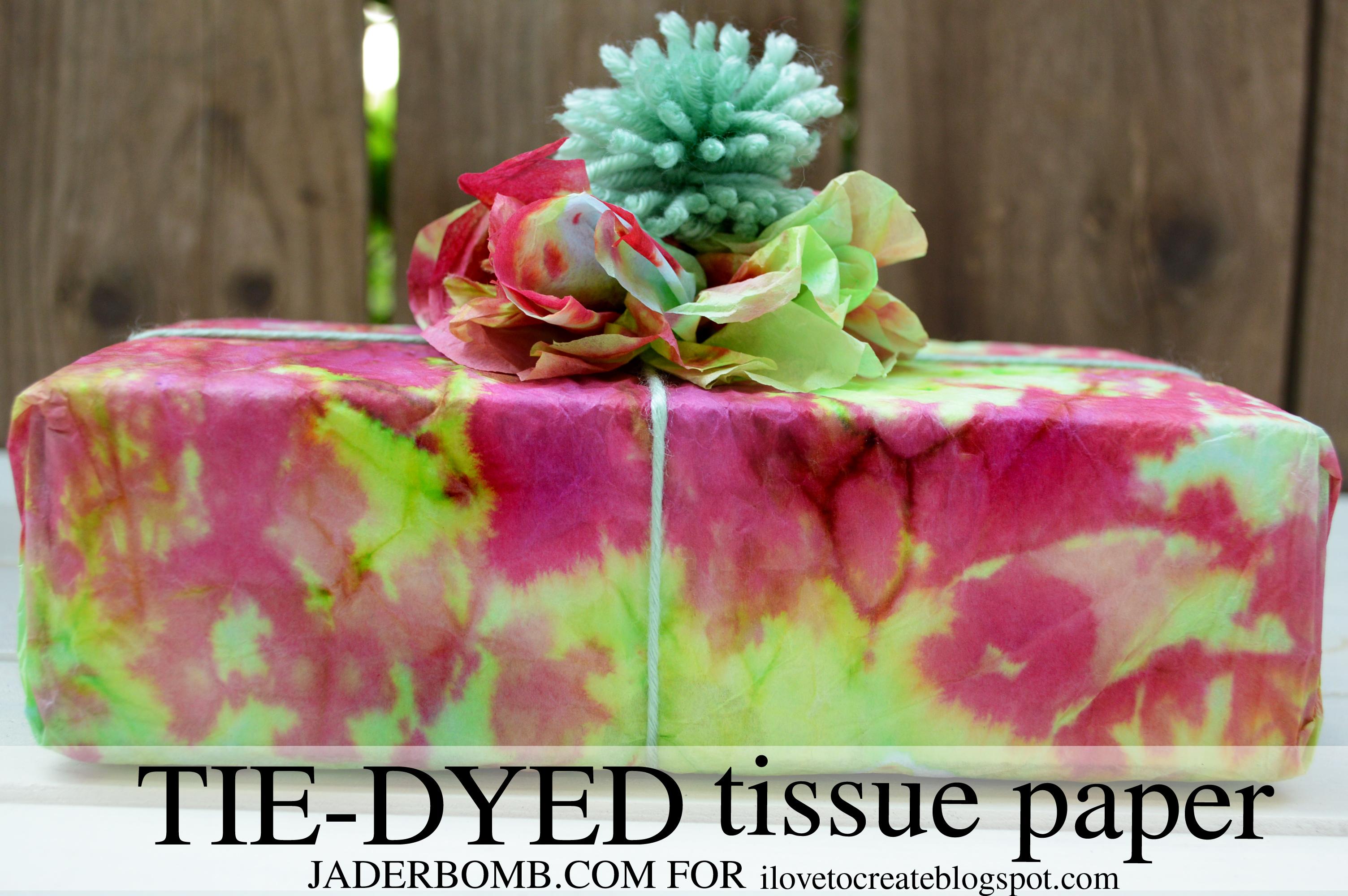 tie dyed tissue paper tutorial jaderbomb. Black Bedroom Furniture Sets. Home Design Ideas
