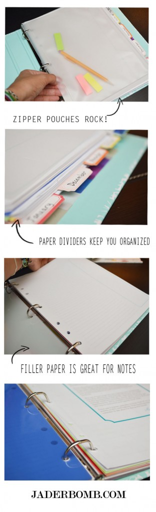 getting your notebook organized
