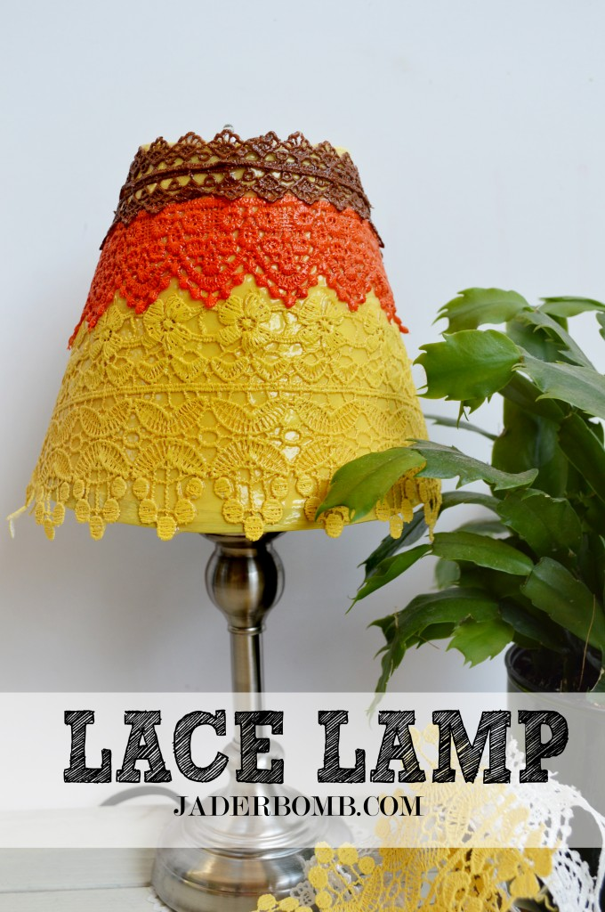Decoupaged Lace Lamp