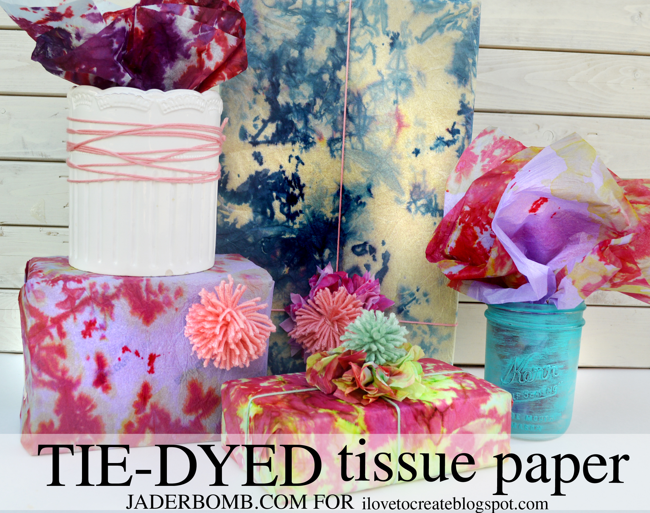 Tie dyed tissue paper tutorial jaderbomb how cool will if be for christmas when you wrap everyones gifts with tie dyed tissue paper i cant wait because i have some cool christmas ideas in my baditri Gallery