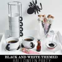 BLACK AND WHITE THEMED HALLOWEEN PARTY