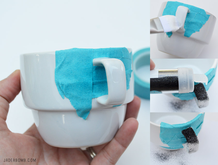 EASY DECOUPAGE ON GLASS TUTORIAL PARTY MUGS