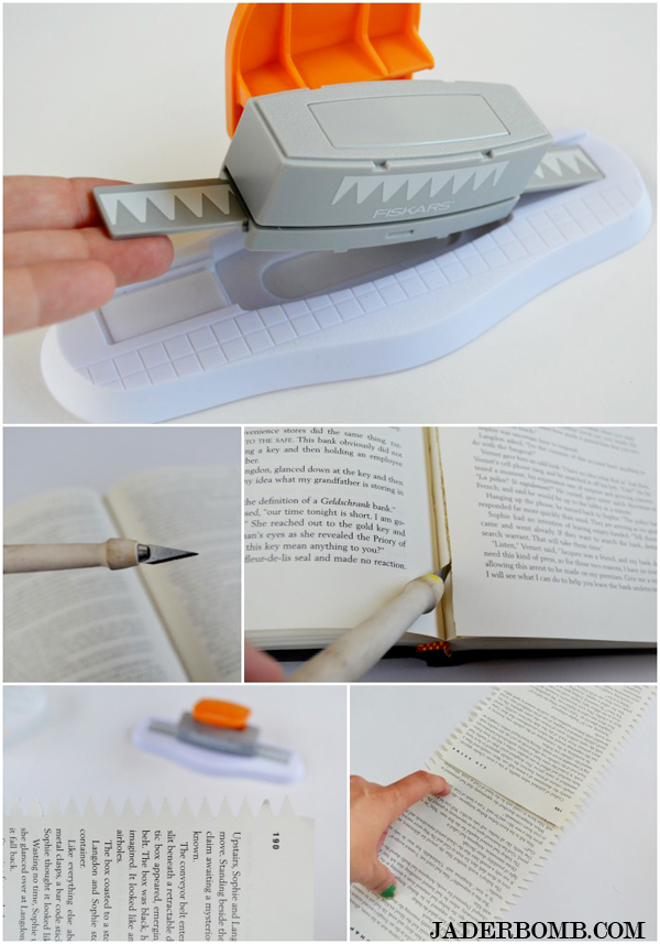 book page paper punch