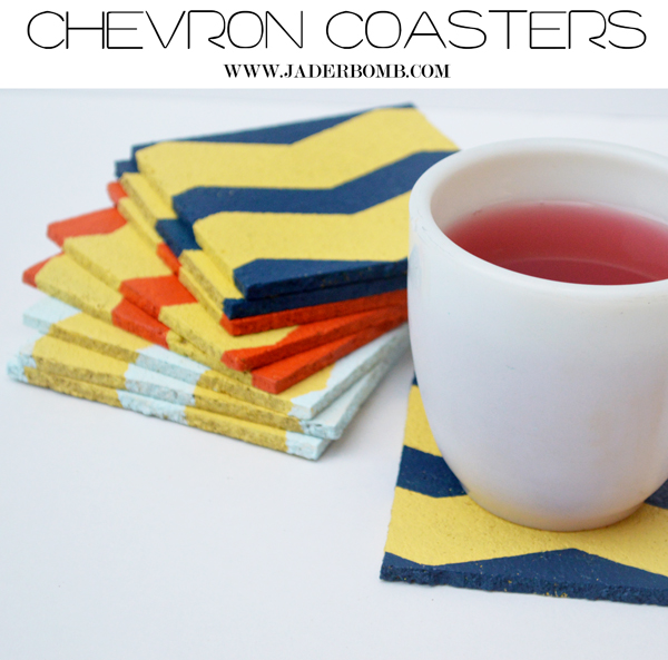 chevron-cork coasters