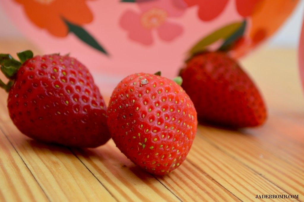 decorate with strawberries