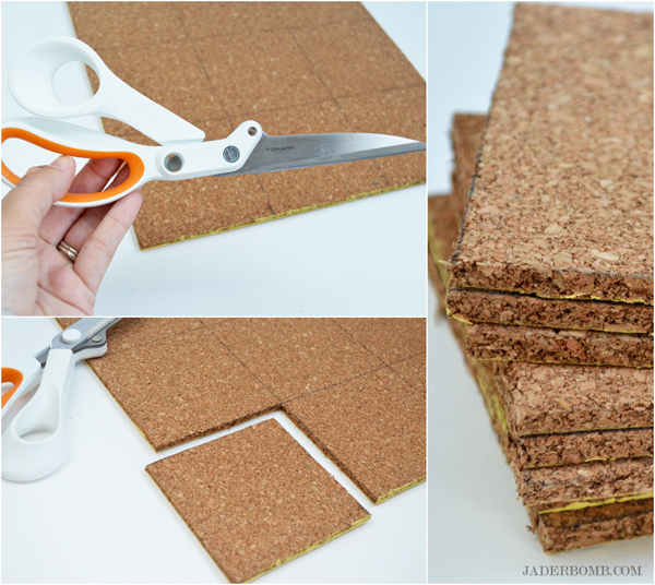 diy chevron cork coasters