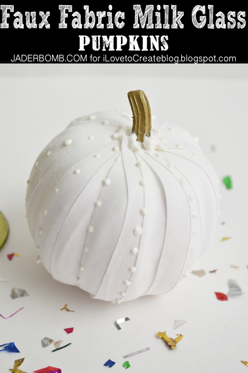 Milk Glass Pumpkin
