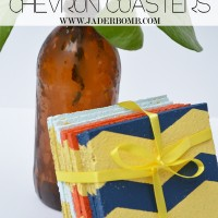 how to make chevron cork coasters
