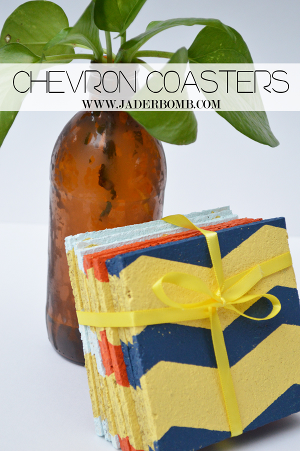 how to make chevron cork coasters