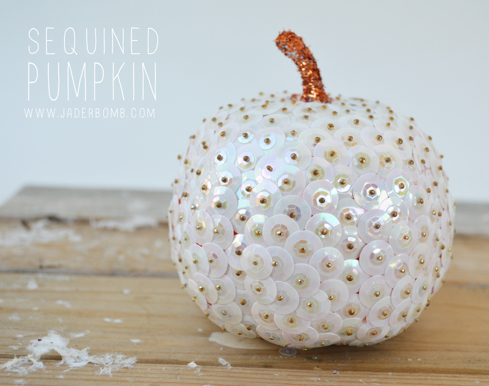 Make a Sequined Pumpkin