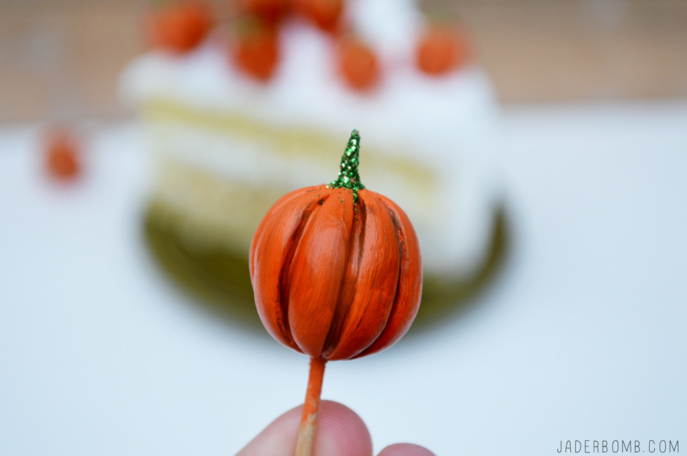 clay pumpkin cake toppers