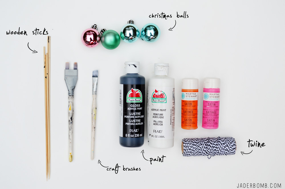 how to paint ornaments supplies