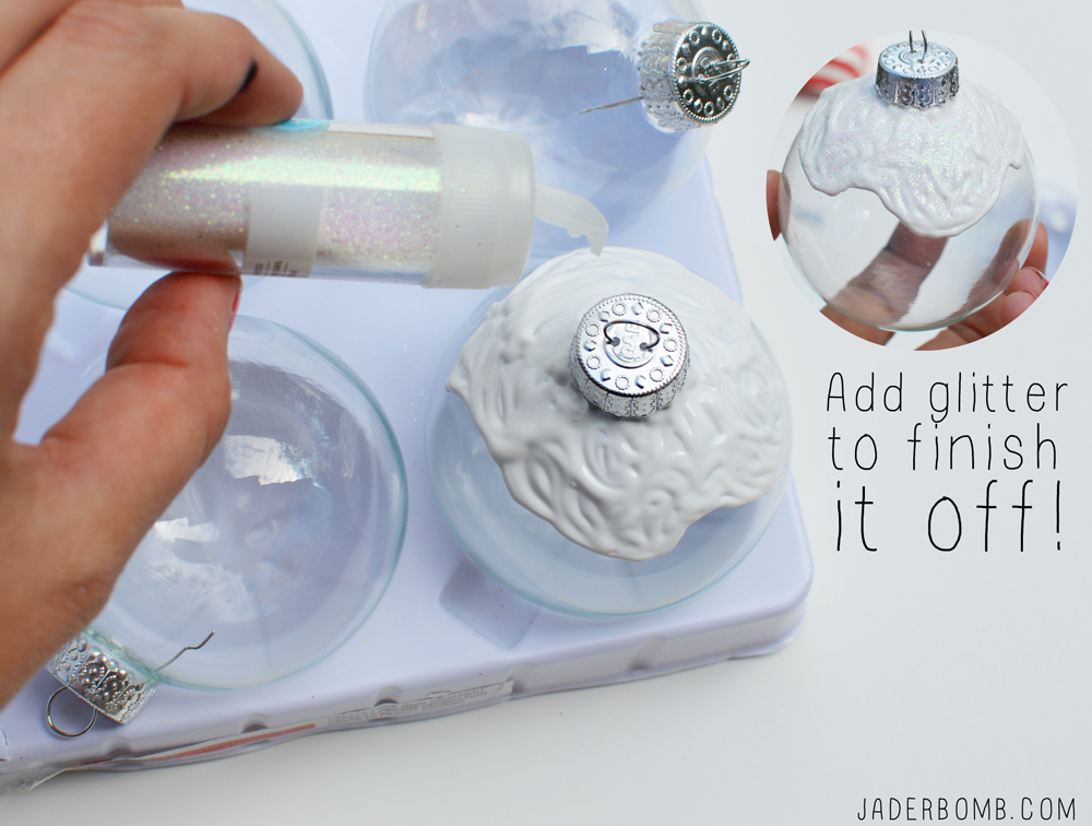 decorate cupcake ornaments