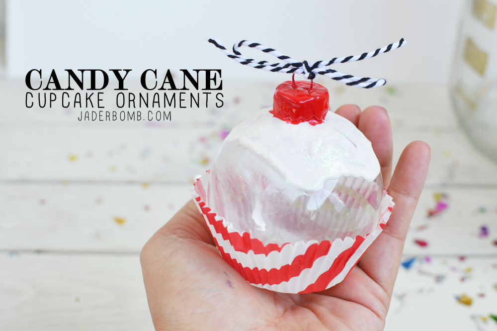 how to make candy cane ornaments