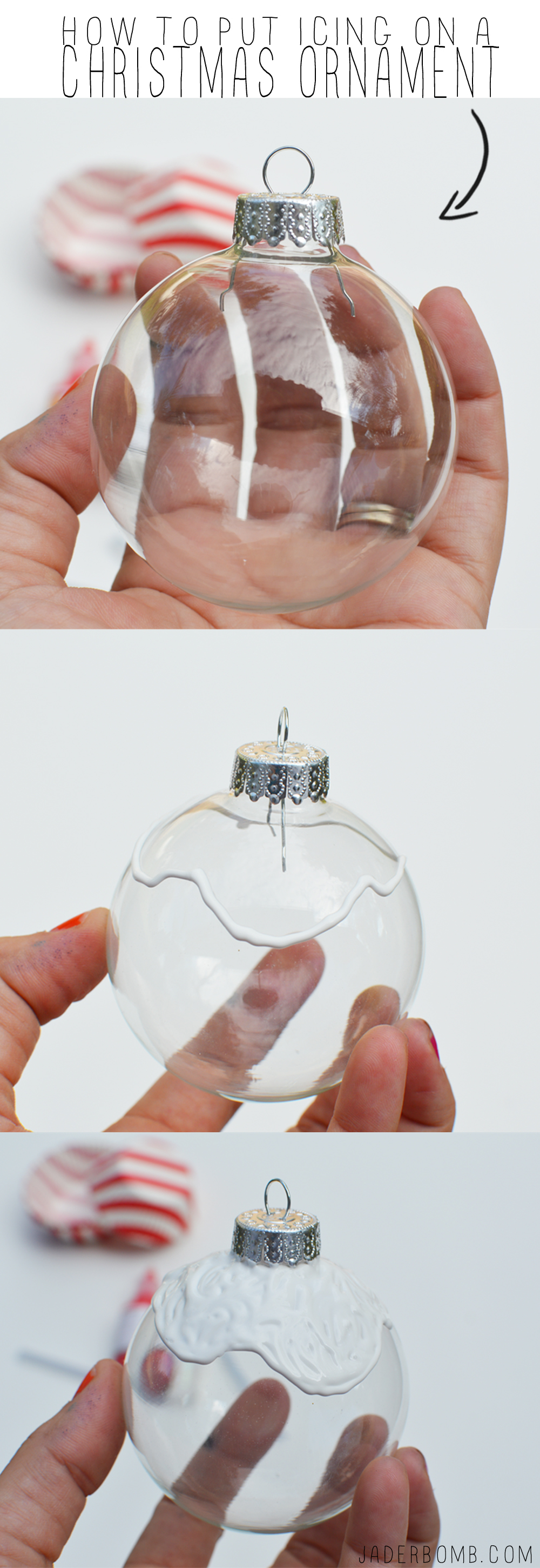 how to put icing on an ornament