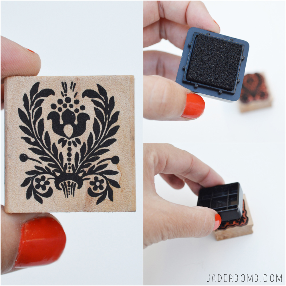 how to use a stamp