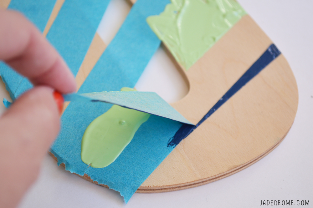 painting strait lines with tape