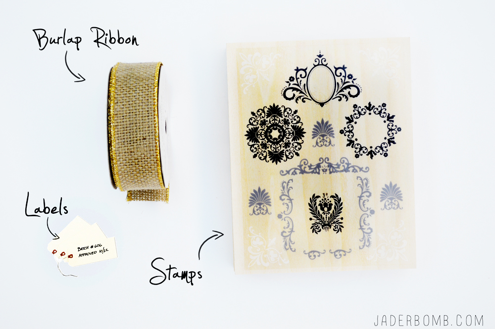 stenciled fabric supplies