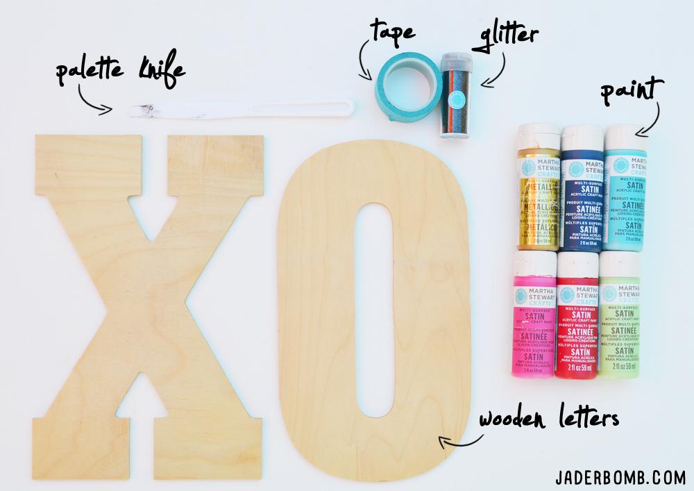 vintage wooden letters supplies